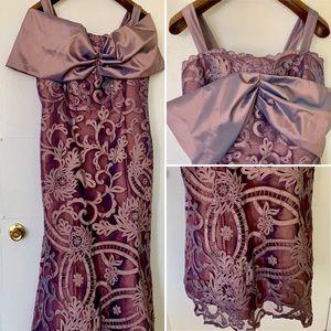 Jovani purple lace dress size 20